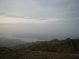 View up Windermere on a rather grey morning