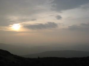 Early morning sky. Wansfell Pike