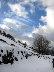 Snow and Blue Sky Ambleside