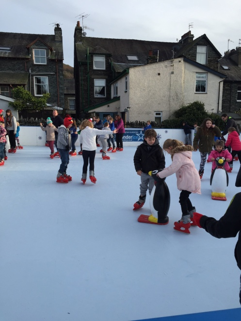 Ice skating Ambleside